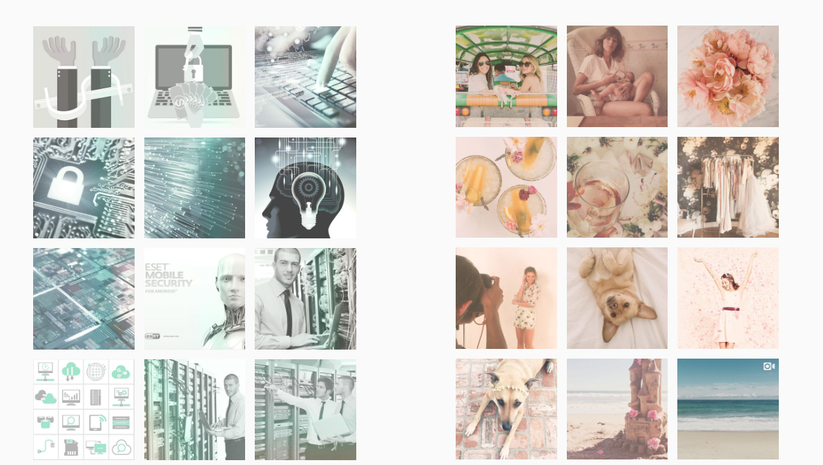 instagram color themes