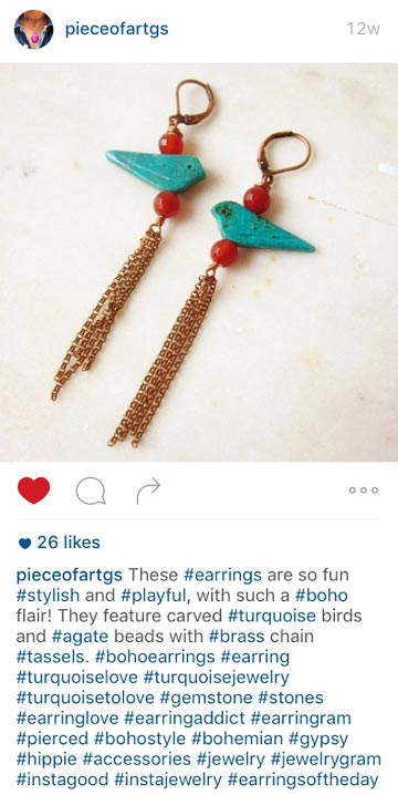 jewelry hashtags marketing