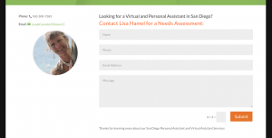 personal assistant in San Diego