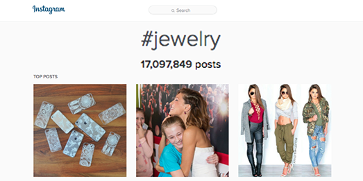 hashtags for jewelry