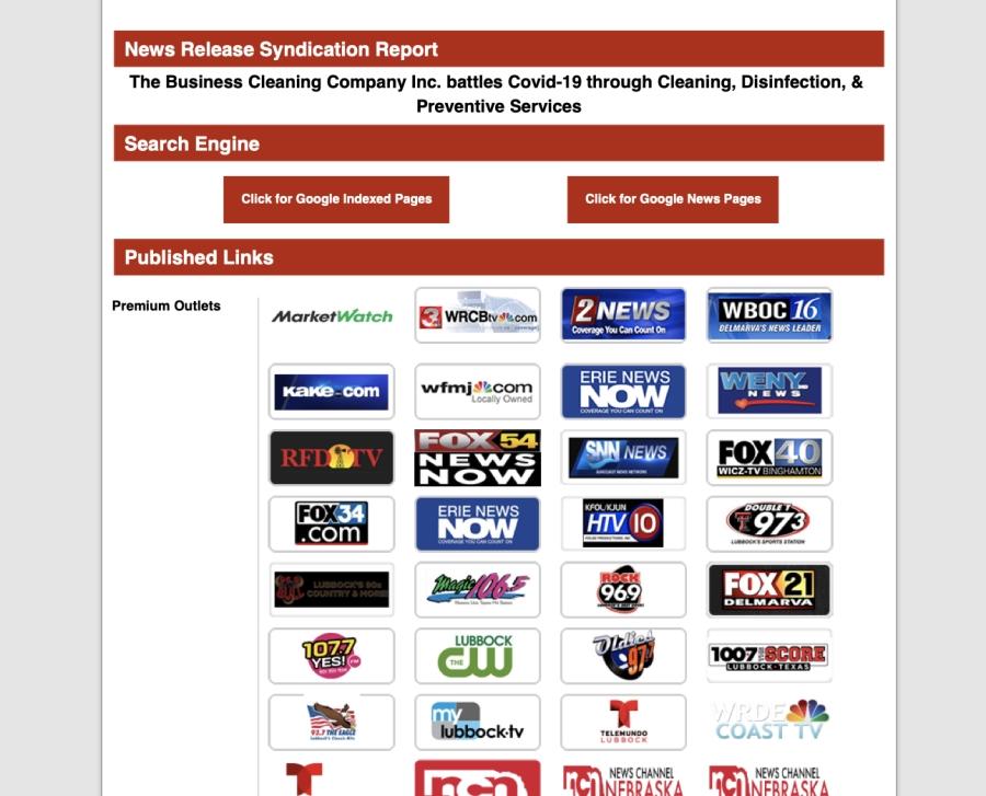 press release screen shot