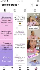 instagram profile feed style